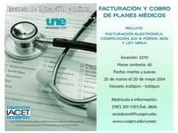 Facturacion y cobro de planes medicos - Universidades - Carolina