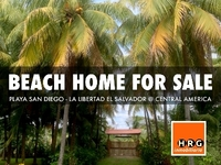 VENDO CASA DE PLAYA - BEACH HOME FOR SALE - PLAYA SAN DIEGO EL SALVADOR - Ranchos / Fincas / Granjas - La Libertad